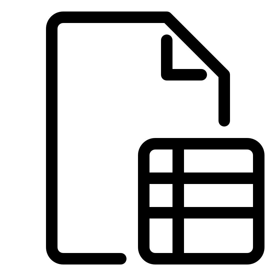 Document type spreadsheet
