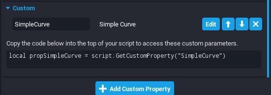 Curve Custom Property