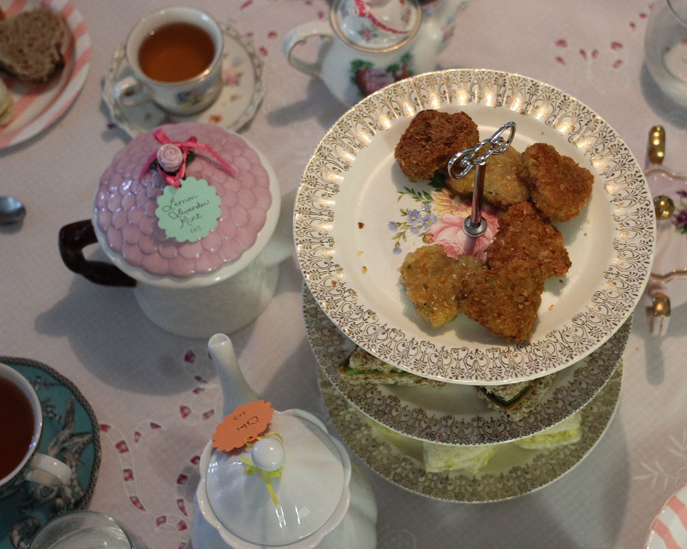 A table set for a vegan tea party