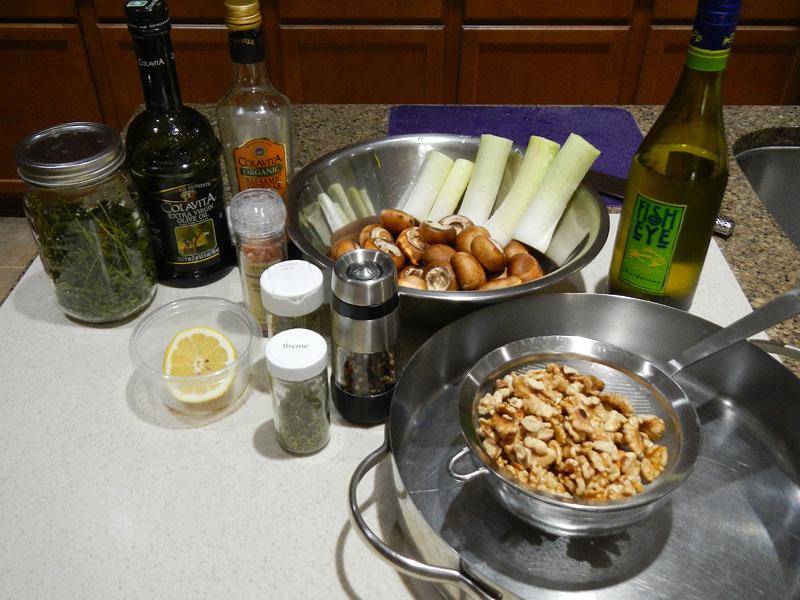 Walnut Mushroom Pate Setup