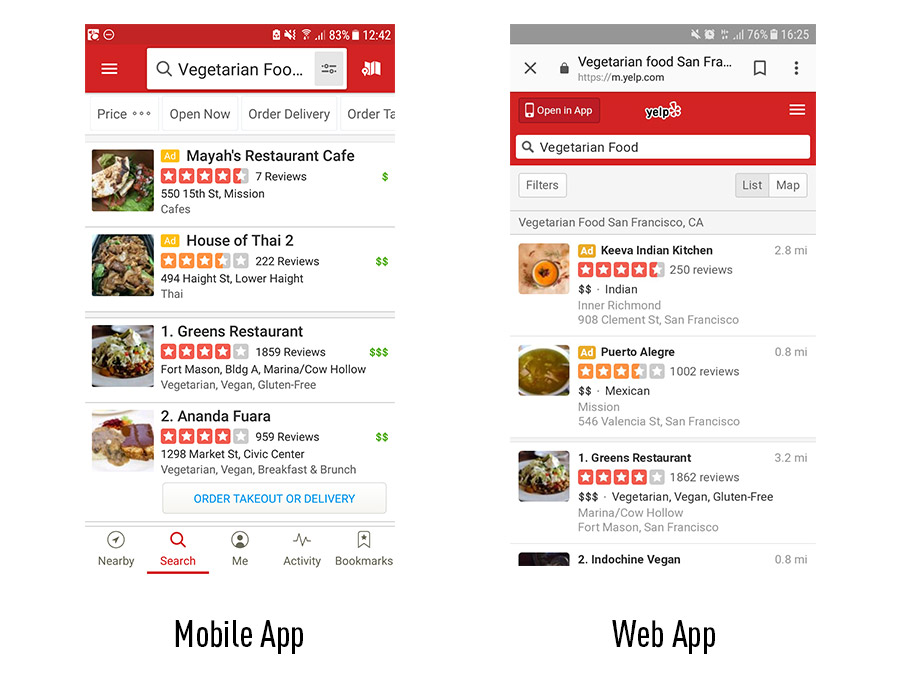 Mobile apps vs  web apps - what's the difference