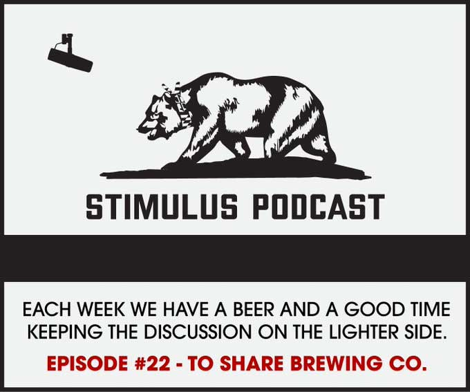 Listen to the The Stimulus Podcast Episode 22 with To Share Brewing Company owners Jenni & Aaron Share