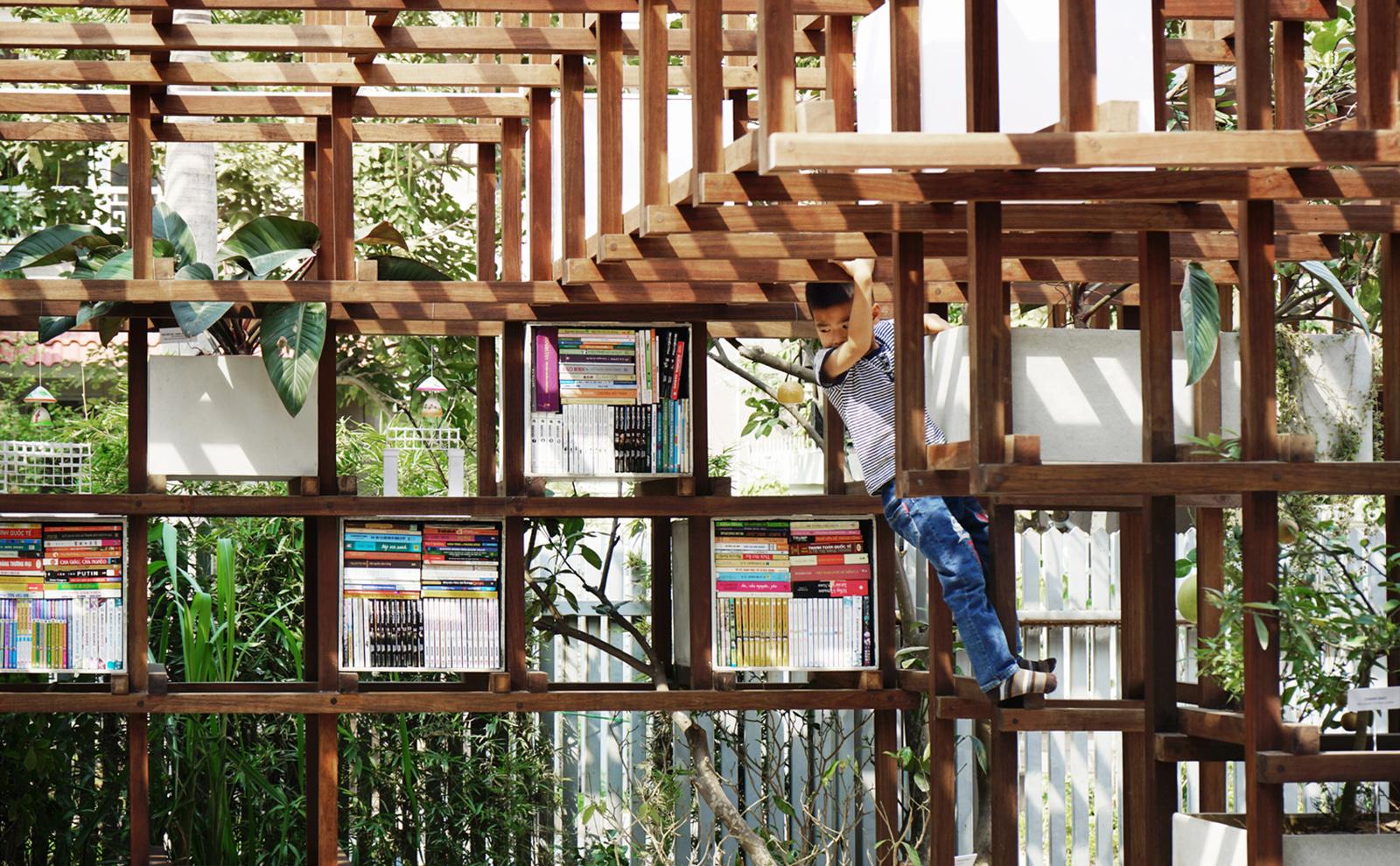 The Elegant, Playful, Environmentally Friendly VAC Library in Hanoi, Vietnam