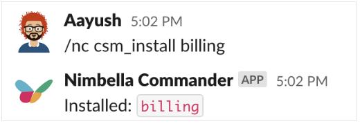 DigitalOcean bill displayed in Slack by installing the billing command