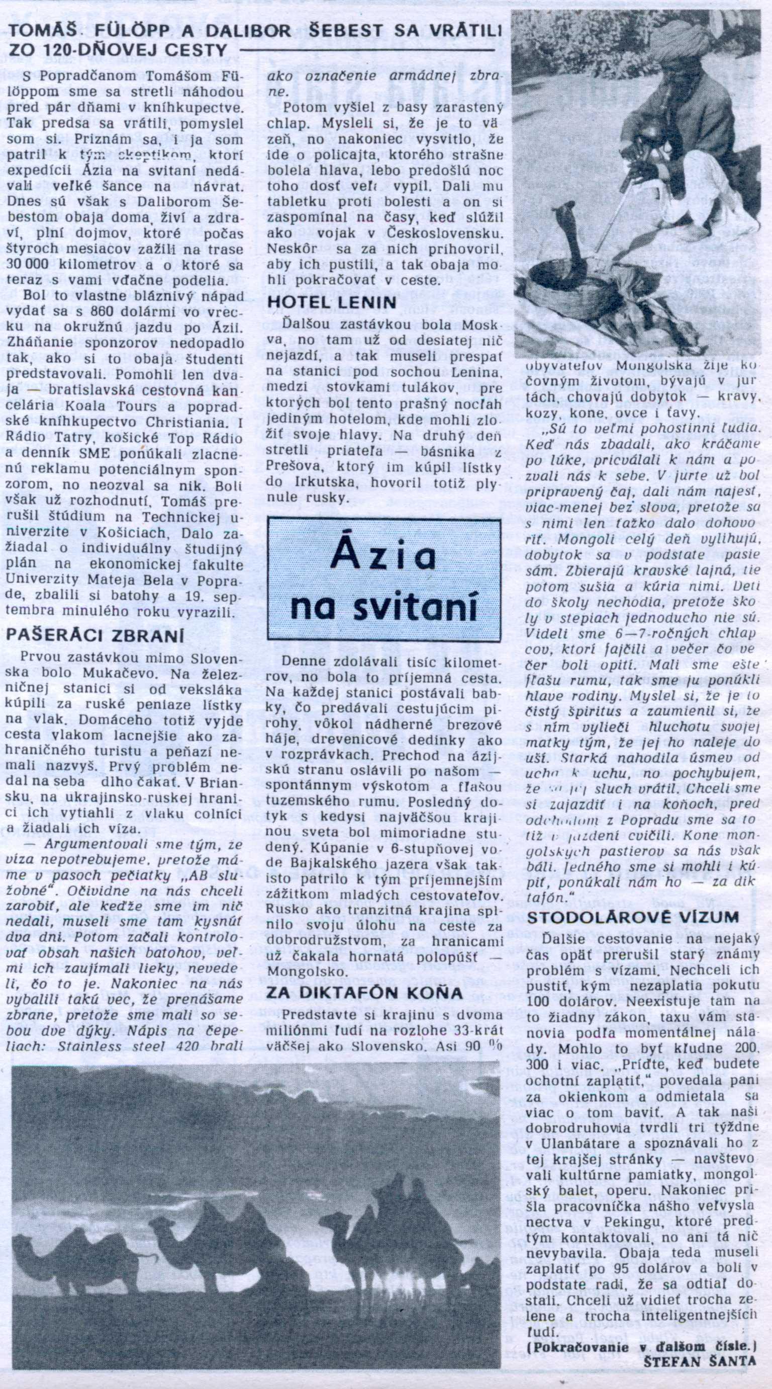 Noviny Poprad: Ázia na svitaní (I.)