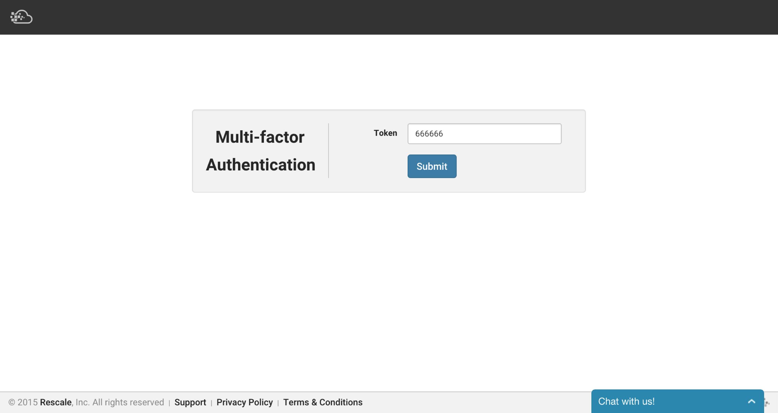 MFA-login-page