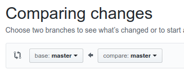 GitHub new pr branch selector