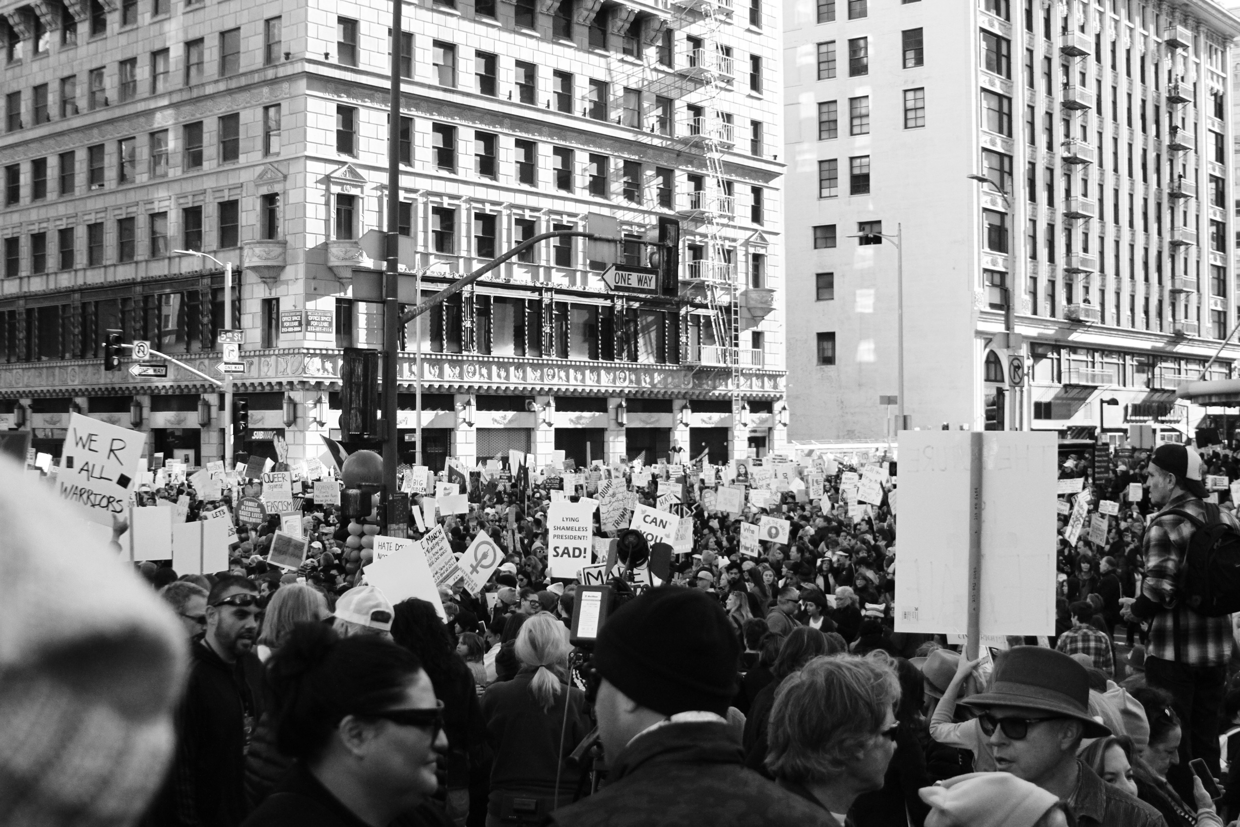 People protesting to government