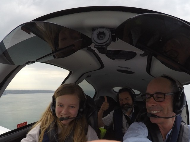 India and Sean with Pilot Nick