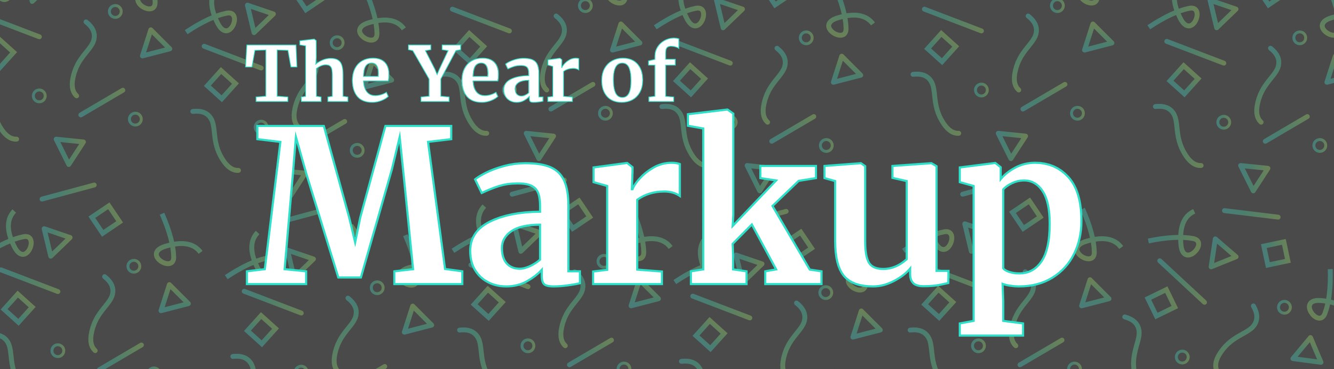 Year of Markup Graphic