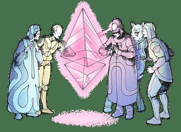Das Symbol für Ether (ETH)