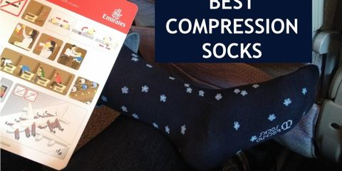 Choose ideal compression level for your legs in your compression socks, so that you can make the best out of your flight.