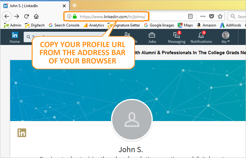 Email Signature - Get LinkedIn URL