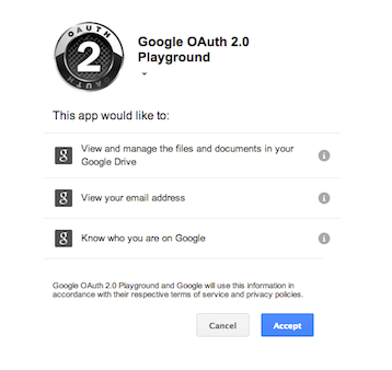 OAuth 2.0 Asking for User Consent