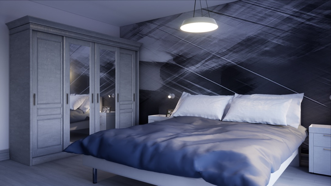 Bedroom visualisation in virtual reality