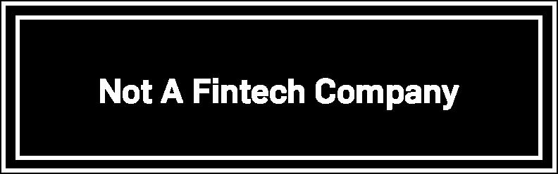 Not a Fintech Company