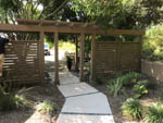 custom fence and pergola front view