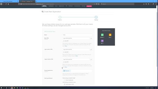 Okta add web app