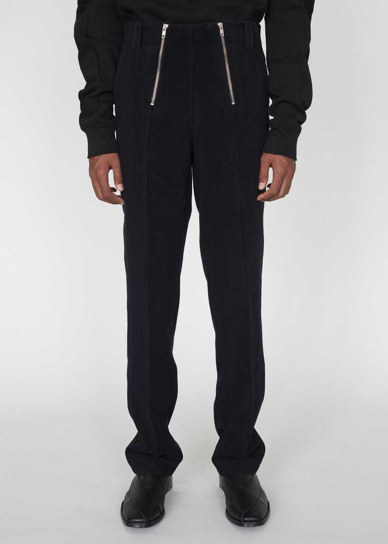ZIMMERMANN GMBH AW19 CORDUROY TROUSERS NAVY FRONT