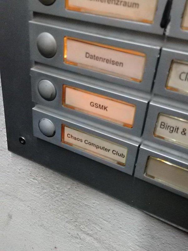 The Chaos Computer Club entrance