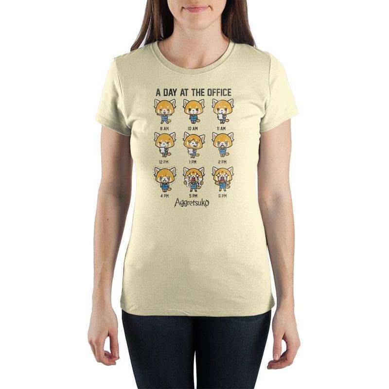 Aggretsuko Light Yellow Aggressive Retsuko T-shirt Wear