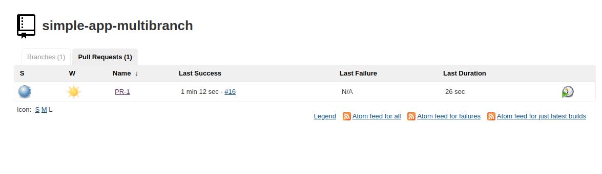Jenkins Pull Request screenshot