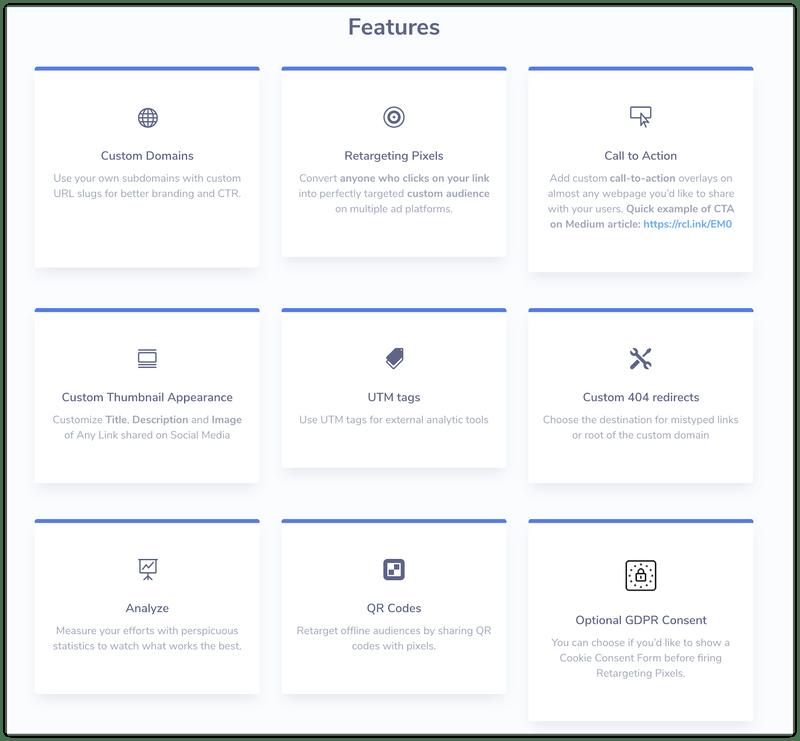 website - features
