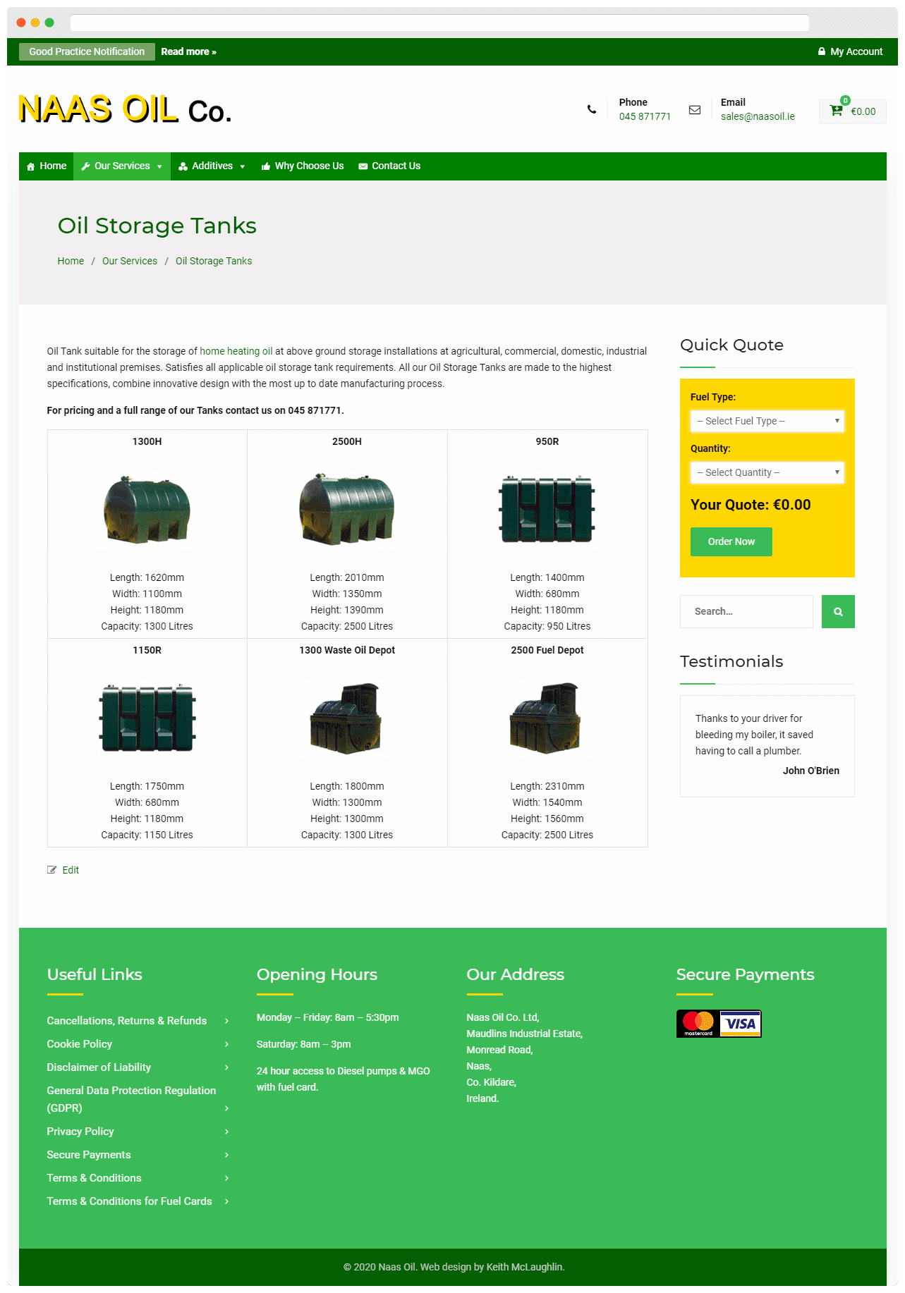 Naas Oil Oil Storage Tanks Page