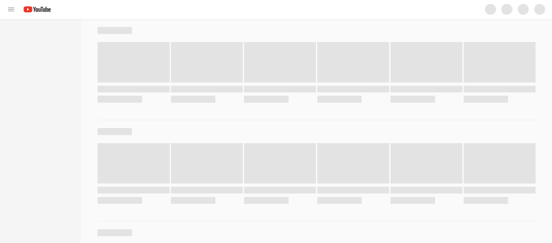 Youtube Skeleton Screens, Bill Chung (UX Collective)