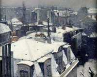 'Rooftops in the Snow' by Gustave Caillebotte (1848–1894), oil on canvas
