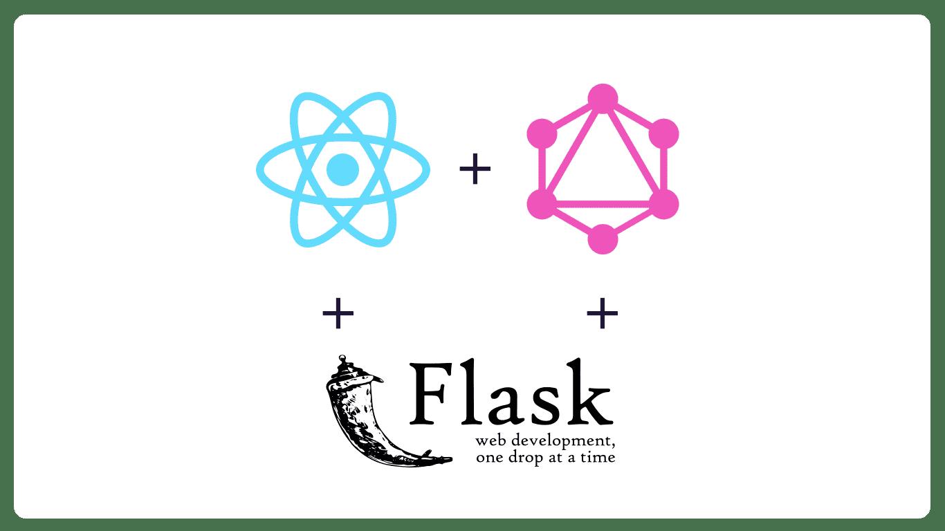 React + GraphQL + Flask logos