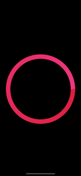 The first version of activity ring view