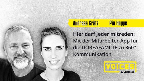 Andreas Grätz & Pia Hoppe: Mit der Mitarbeiter-App für die DOREAFAMILIE zu 360° Kommunikation
