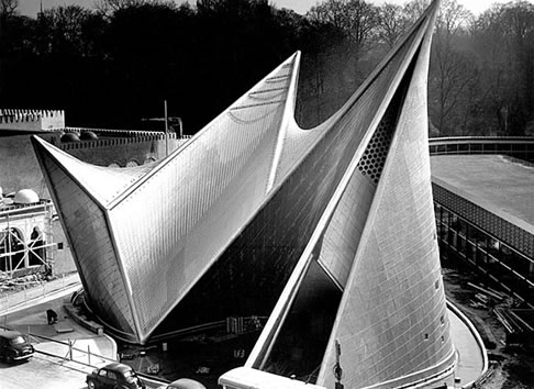 The Philips Pavilion at the 1958 World's Fair in Brussels