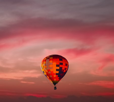 hot air balloon in a beautiful sky