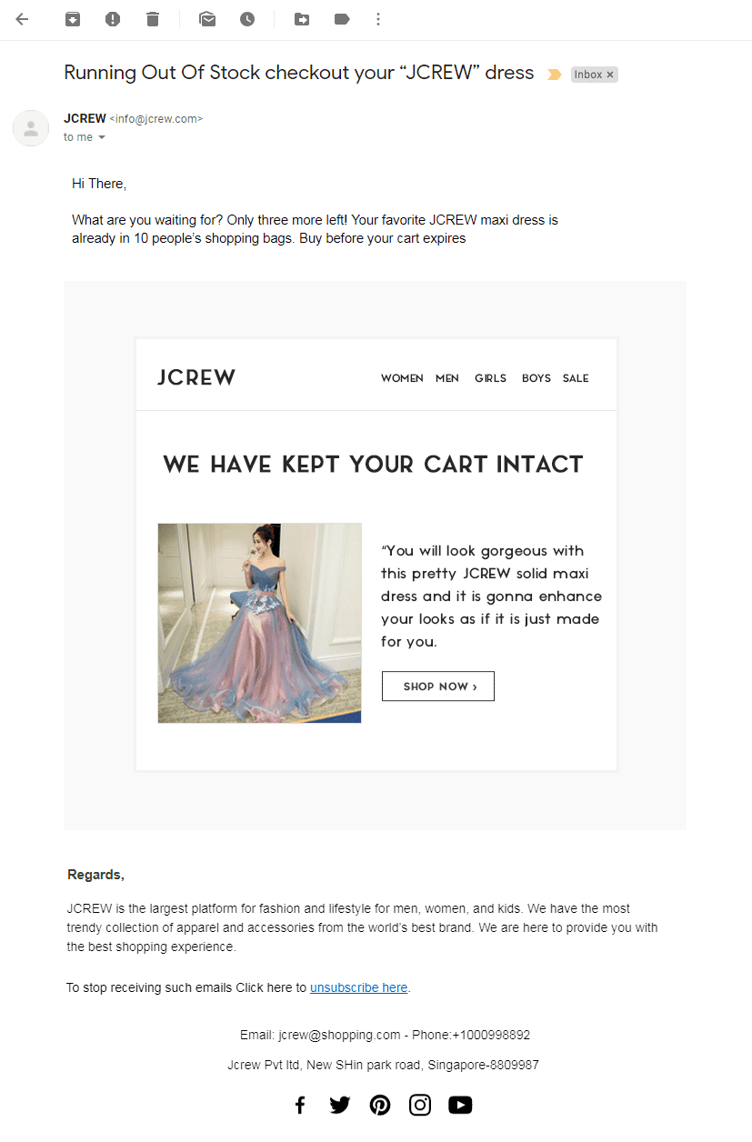 3rd Email template