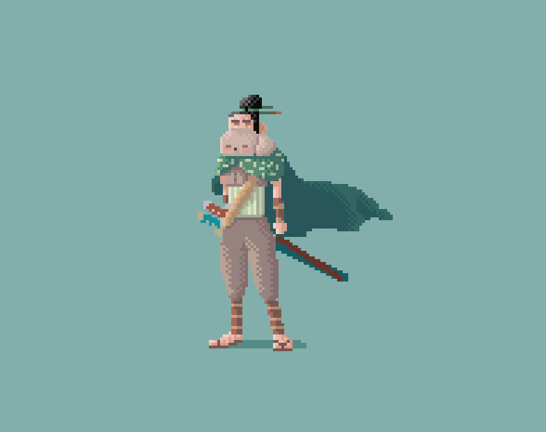 Samurai 2 pixel art