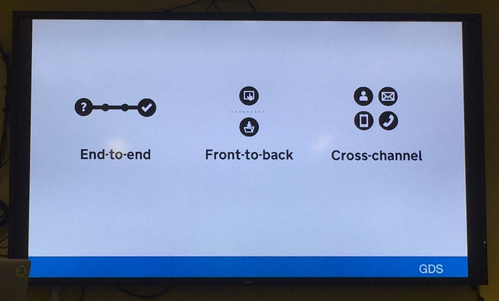 service design is end-to-end, front-to-back and cross-channel