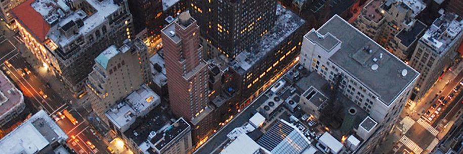 Foto uit de lucht van kantoorpanden