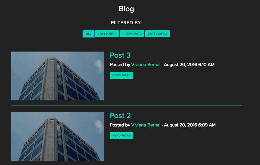 Filter blog posts on NationBuilder websites