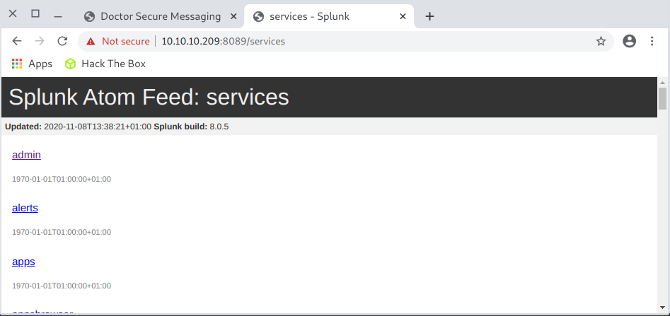 Doctor splunk services
