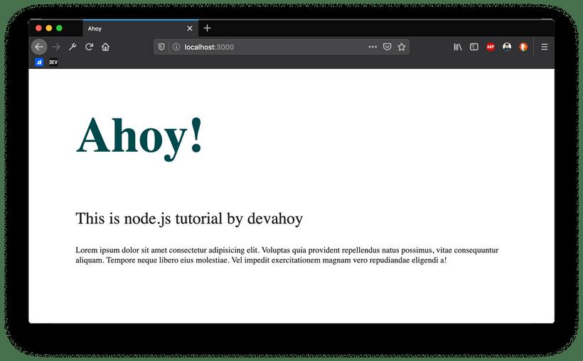 Node.js HTTP Example