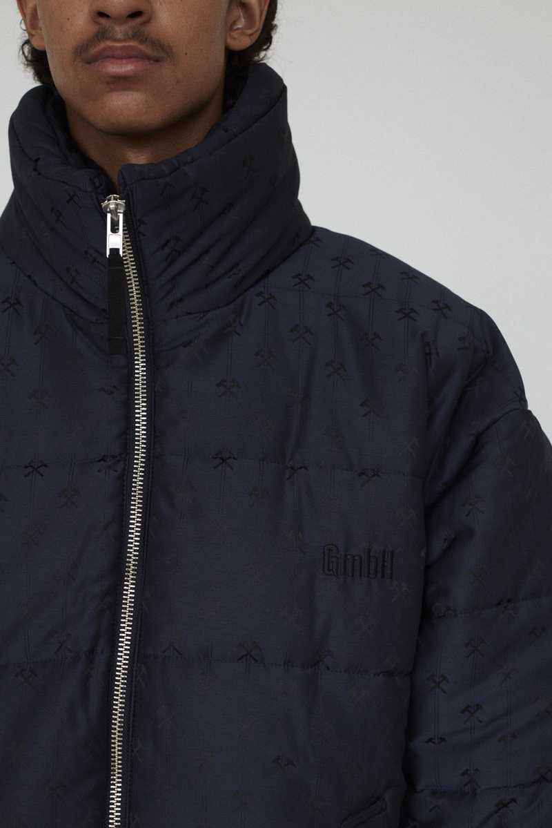 GmbH AW19 DEBS PUFFER JACKET NAVY FRONT ZOOM