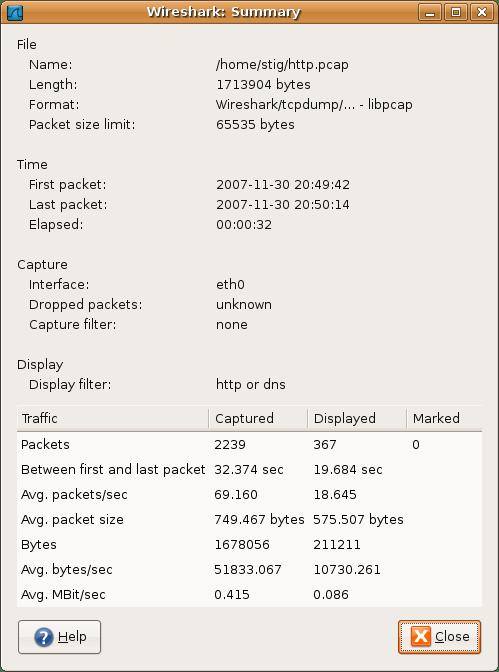8  Statistiques Wireshark - Le Protocole SIP : Contexte, protocole