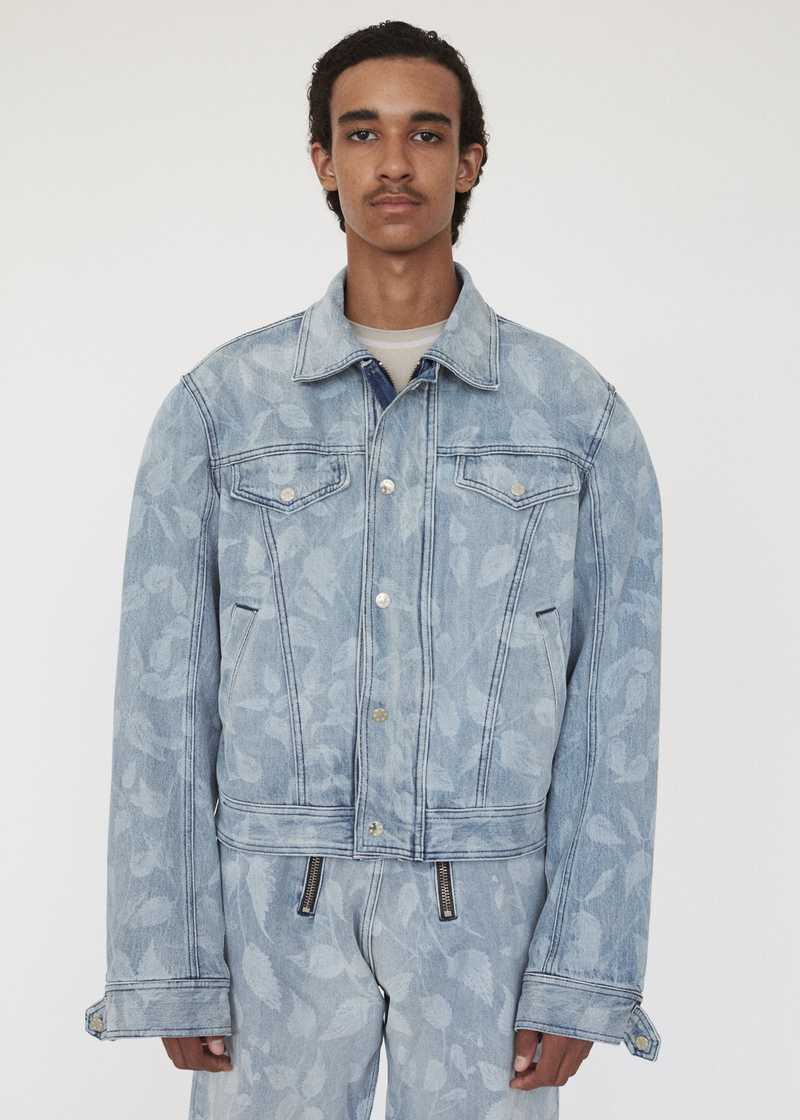 CEM GMBH AW19 BIKER JACKET LIGHT BLUE