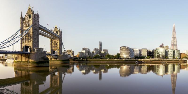 London skyline with the tower bridge