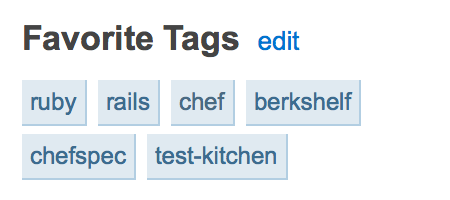 StackOverflow favorite tags