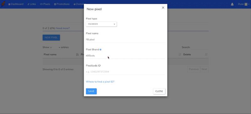 RocketLink's interface.