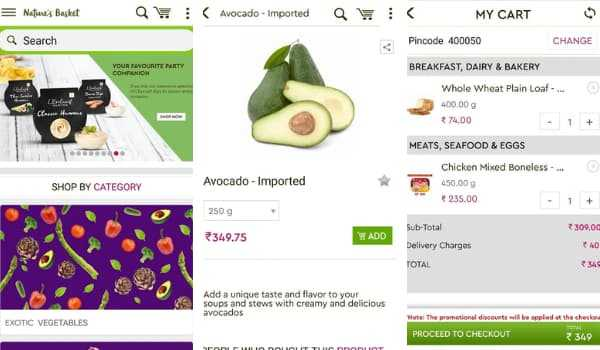 Nature's Basket Online Grocery Shopping App