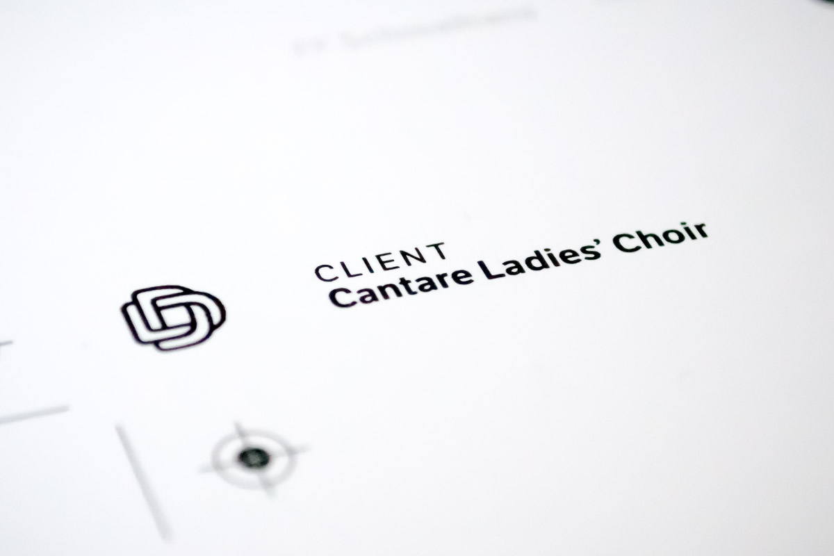 Cantare Ladies' Choir Proof Detail 1
